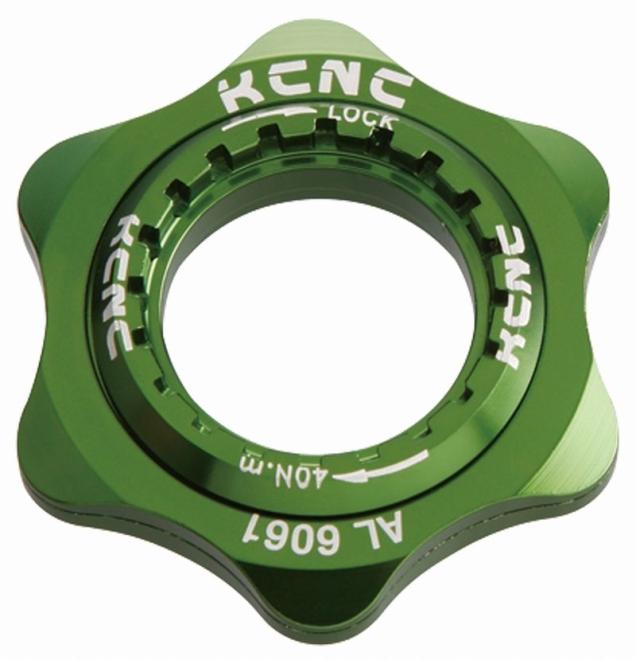 KCNC(ケーシーエヌシー)グリーン 20T センターロックアダプター