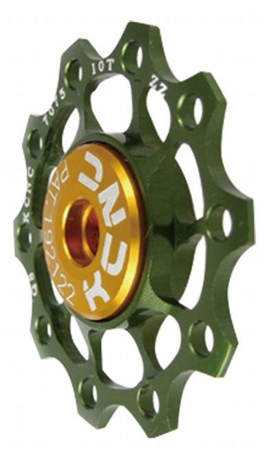 KCNC(ケーシーエヌシー)グリーン 11T ジョッキーホイール ウルトラライト