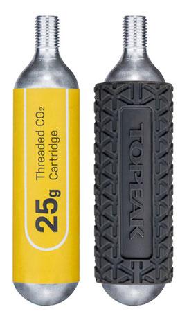 TOPEAK(トピーク)25G ネジ付 CO2 カートリッジ (2本セット) 25G