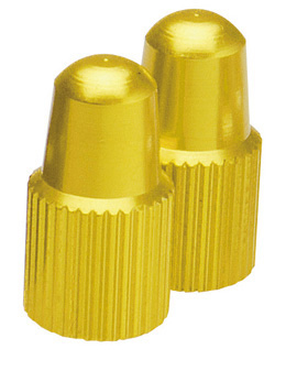 GIZA(ギザ)仏式バルブ用バルブキャップ ゴールド