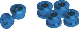 GIZA(ギザ)チェーンリング フィキシングボルト(シングル用) ブルー