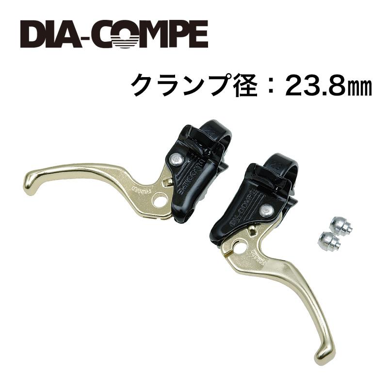 DIA-COMPE(ダイアコンペ)MX122 レバー L/R ブラック/ゴールド 23.8mm