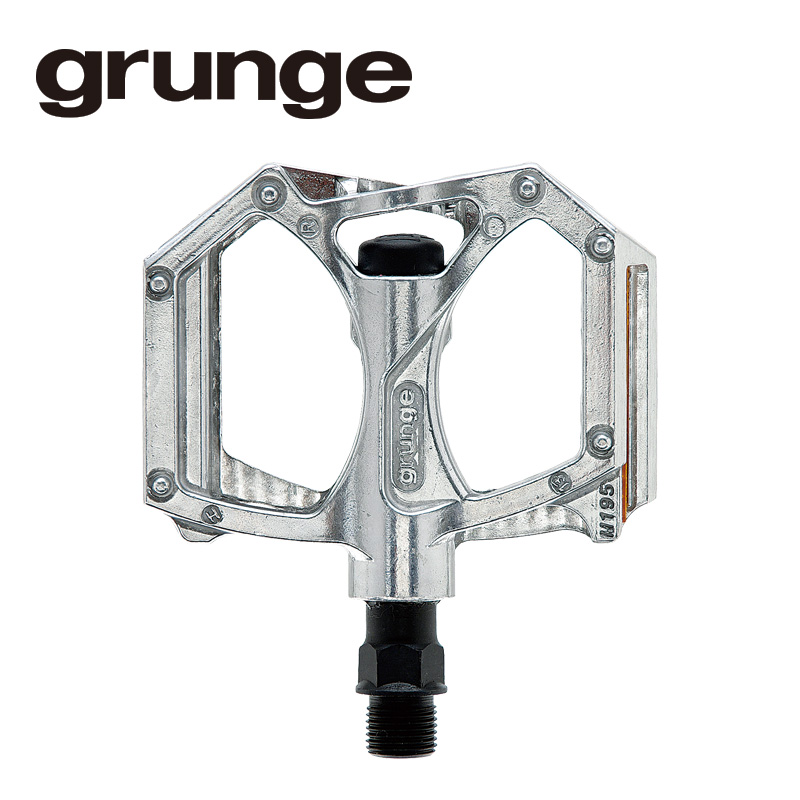 GRUNGE(グランジ)G04 PDL フラットモットペダル シルバー