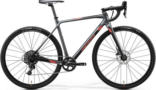 MERIDA ( メリダ ) シクロクロスバイク MISSION CX 5000 ( ミッション CX 5000 ) シルク シルバー / ブラック ( レッド )   ESK6 47