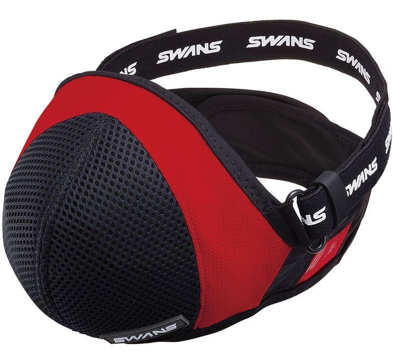 SWANS(スワンズ)SSM-04 スポーツマスク ブラック/レッド M