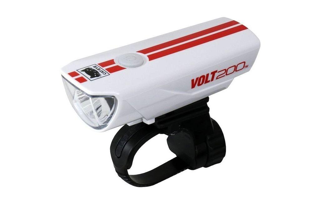 CAT-EYE(キャットアイ)HL-EL151RC VOLT200 ホワイト/レッドストライプ