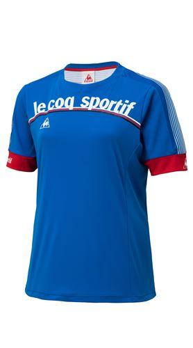 Le coq sportif(ルコックスポルティフ)トリコロールショートスリーブシャツ コーンブルー S