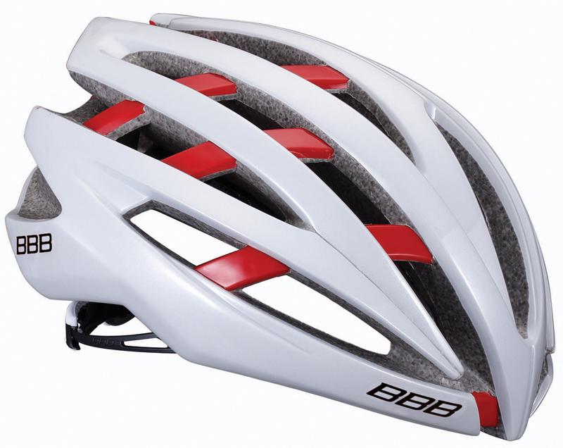 BBB(ビービービー)ヘルメット イカロス ホワイト/レッド M