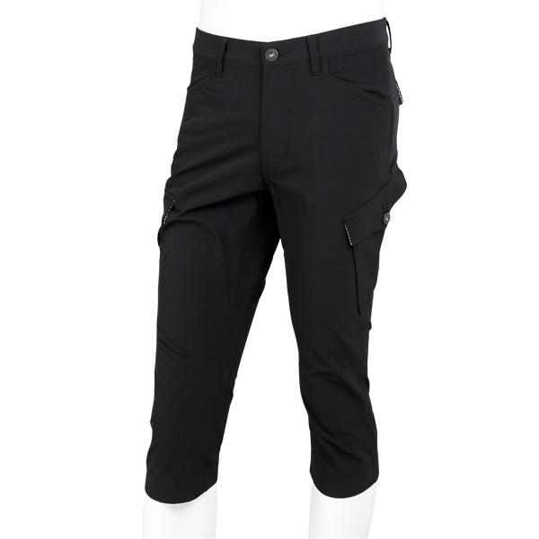 KAPELMUUR ( カペルミュール ) ストレッチ クロップド パンツ ブラック S