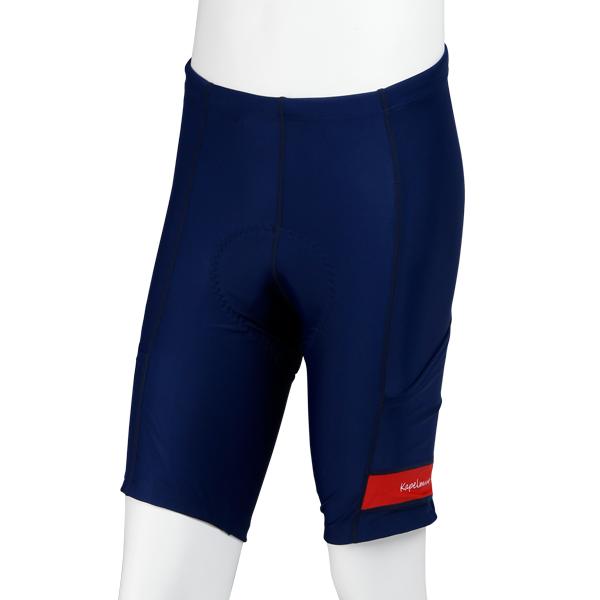 UVカットサイクルショーツ ポケット付き ネイビー×レッド