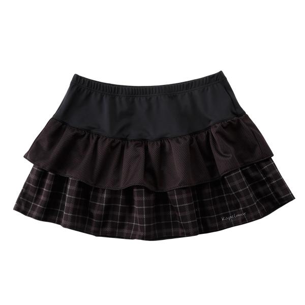 KAPELMUUR(カペルミュール)ティアードスカート ブラックチェック F