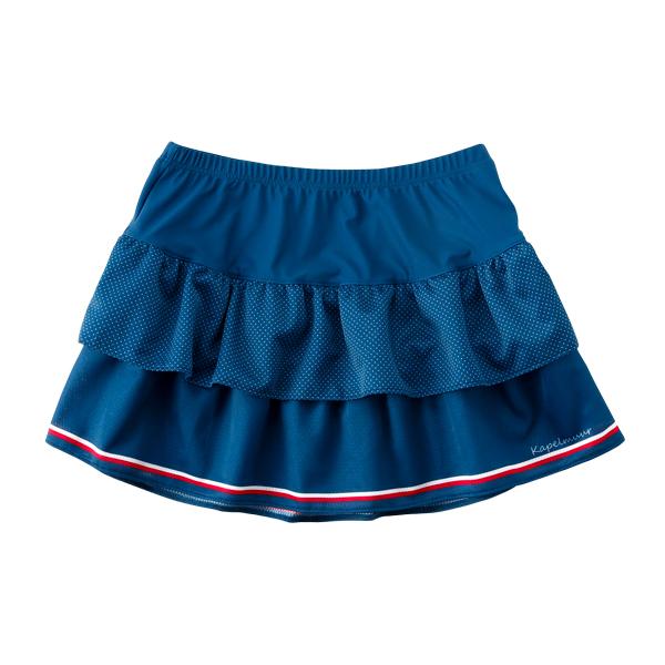 KAPELMUUR(カペルミュール)ティアードスカート プチドット クラシックブルー F