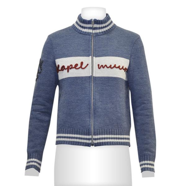 フルジップアップセーター 杢ネイビー