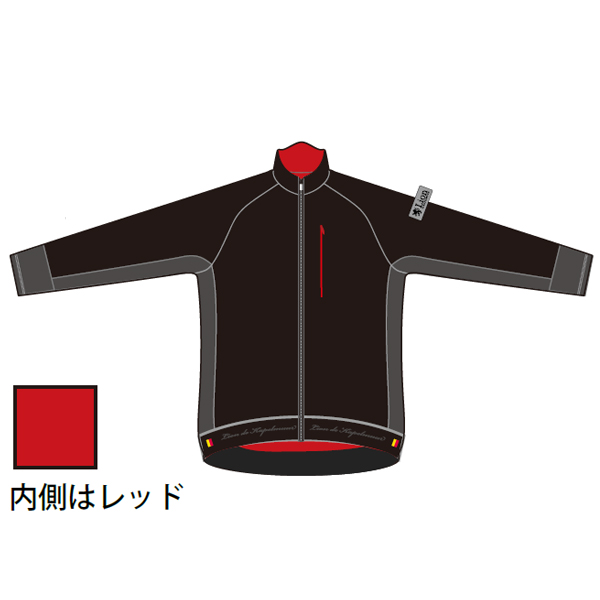 プレミアムジャケット「エアリアル」 ブラック×グレー