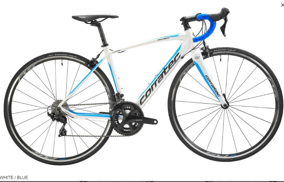 CORRATEC ( コラテック ) ロードバイク DOLOMITI 105 RS100  ( ドロミテ 105 RS100  ) ホワイト / ブラック / ブルー 42