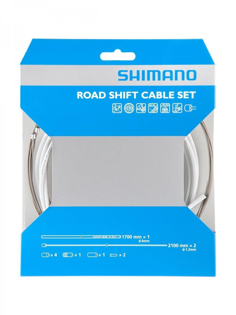 シマノ ロードPTFEシフトケーブルセット SP41 {WHT}