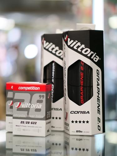 VITTORIA(ビットリア)CORSA G2.0 コンペティションチューブFV48mm付ペア フルブラック 700X25C