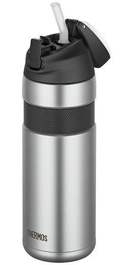 THERMOS ( サーモス ) FFQ-600 真空断熱 ストローボトル ステンレスブラック 600ml