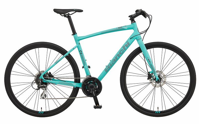 BIANCHI(ビアンキ) C・SPORT(シースポーツ) 2 クロスバイク CK16(チェレステ)/ブラック 51 |自転車・パーツ・ウェア通販|ワイズロードオンライン
