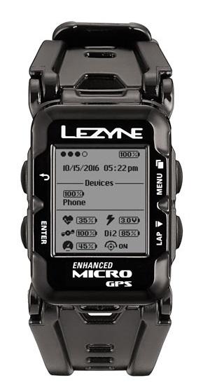 LEZYNE ( レザイン ) サイクルコンピューター_本体 MICRO GPS WATCH ( マイクロ GPS ウォッチ ) ブラック
