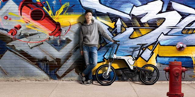 BESV ( ベスビー ) e-バイク PSA1  ワイズロード限定カラー マットブラック ゴールドロゴ