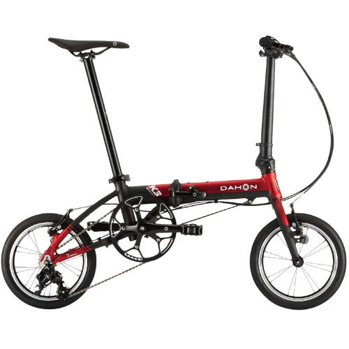 DAHON ( ダホン ) 折りたたみ自転車 K3 キックスタンド付 レッド / マットブラック 2021年モデル