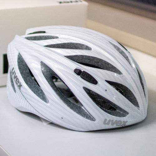 UVEX ( ウベックス ) ヘルメット BOSS RACE ( ボス レース ) カーボン ルック ホワイト 55-60cm