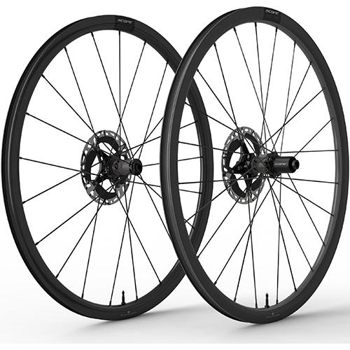 SCOPE CYCLING ( スコープ サイクリング ) ロードバイク用ディスクホイール S3 DISC TLR 前後セット ( S3 ディスクブレーキ チューブレスレディ ) ブラック シマノフリー