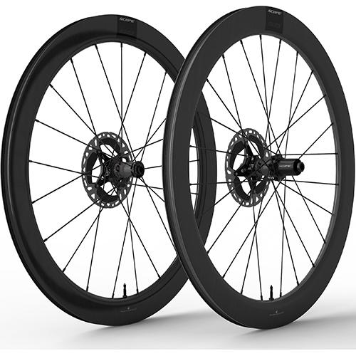 SCOPE CYCLING ( スコープ サイクリング ) ロードバイク用リムブレーキホイール S5 RIM TLR 前後セット ( S5 リムブレーキ チューブレスレディ ) ブラック シマノフリー