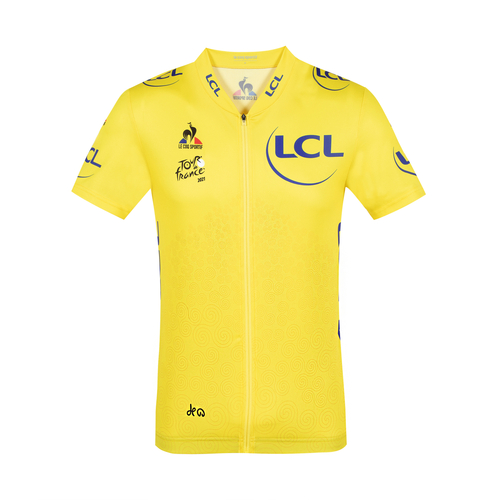 Le coq sportif ( ルコックスポルティフ ) 半袖ジャージ QCMRIA40TF 2021 Maillot Jaune ( マイヨジョーヌ ) レプリカ グランデパール M