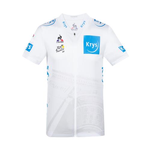 Le coq sportif ( ルコックスポルティフ ) 半袖ジャージ QCMRIA41TF 2021 TDFレプリカ ホワイト L