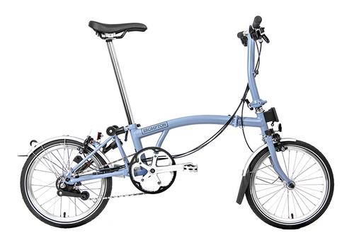 BROMPTON ( ブロンプトン ) 折りたたみ自転車 21年モデル M6R クラウドブルー