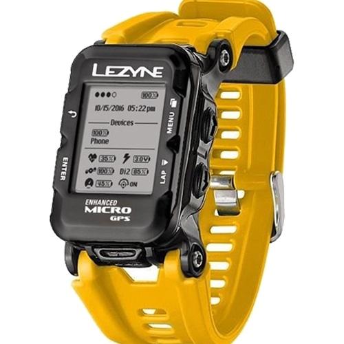 LEZYNE ( レザイン ) サイクルコンピューター_本体 MICRO GPS WATCH ( マイクロ GPS ウォッチ ) イエロー