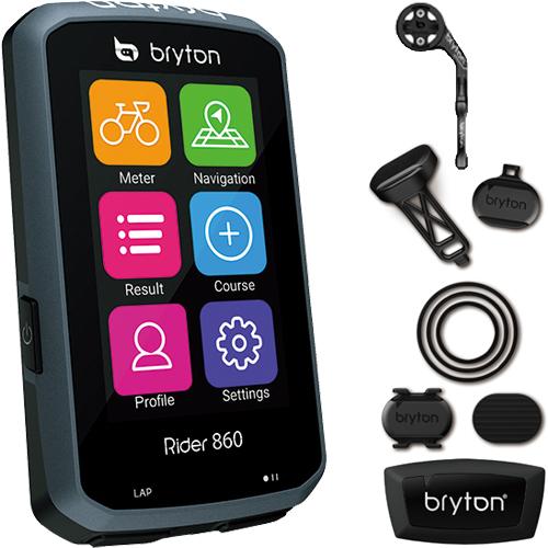BRYTON ( ブライトン ) GPS サイクルコンピューター RIDER860T スピード ケイデンス 心拍 センサー 付属