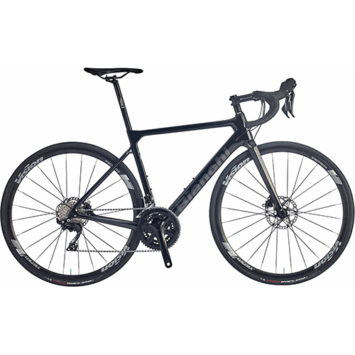 【 自転車生活応援キャンペーン開催中! 】 BIANCHI ( ビアンキ ) 2021 ロードバイク SPRINT DISC 105 ( スプリント ディスク 105 ) ブラック / CK16 ( チェレステ ) フル グロッシー