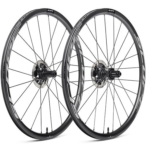 SCOPE CYCLING ( スコープ サイクリング ) ロードバイク用ディスクホイール R3 DISC TLR 前後セット ( R3 ディスクブレーキ チューブレスレディ ) ホワイト シマノフリー