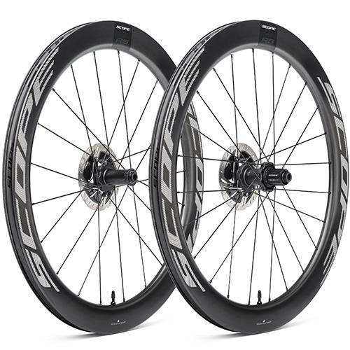 SCOPE CYCLING ( スコープ サイクリング ) ロードバイク用ディスクホイール R5 DISC TLR 前後セット ( R5 ディスクブレーキ チューブレスレディ ) ホワイト シマノフリー